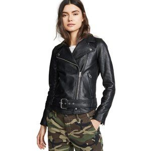Madewell Ultimate Leather Moto Jacket  in Black